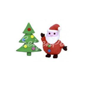 Radierer Set Weihnachtsbaum & Weihnachtsmann