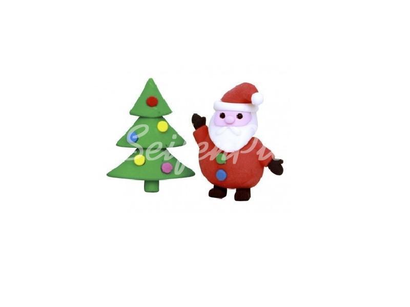 Radierer Set Weihnachtsbaum & Weihnachtsmann » 1,20€ » SeifenPlanet-Onlineshop