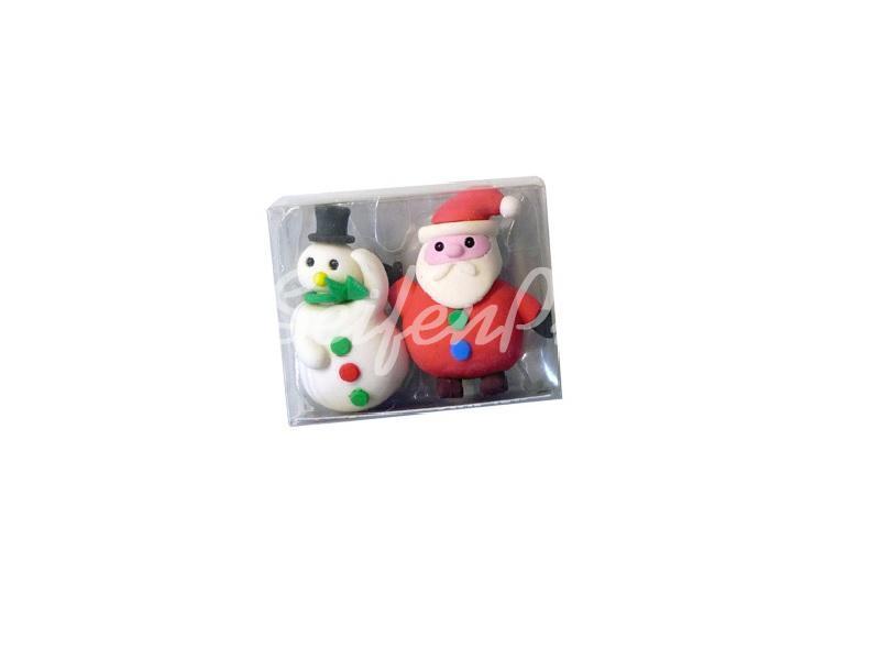 Radierer Set Weihnachtsmann & Schneemann » 1,20€ » SeifenPlanet-Onlineshop