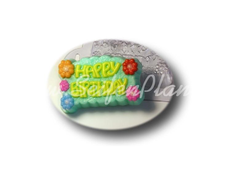 Seifengießform Happy Birthday » 2,49€ » SeifenPlanet-Onlineshop