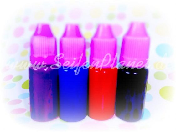 Flüssige Seifenfarbe aus den kosmetischen Pigmenten