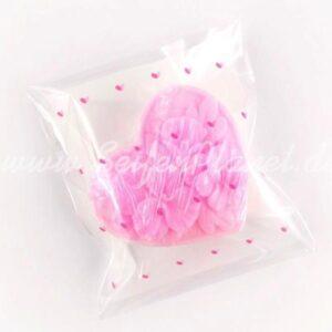 Selbstklebende Folientüte Herzchen, 4-er Set