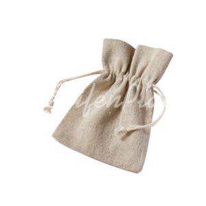 Leinen-Säckchen uni, 6-er Set