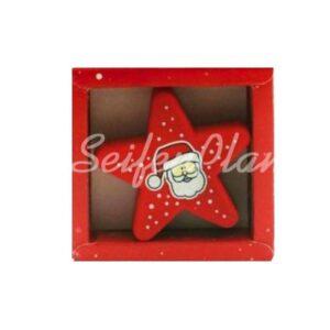 Radierer Weihnachtsmann Stern