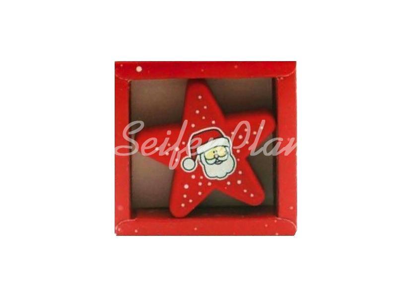 Radierer Weihnachtsmann Stern » 1,99€ » SeifenPlanet-Onlineshop