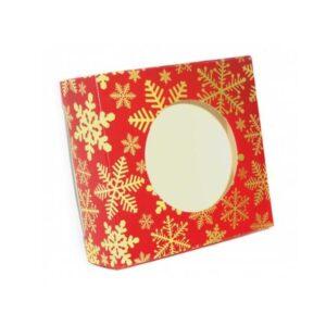 Geschenkpackung Schneeflocke rot, 4-er Set