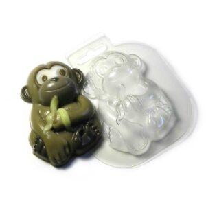 Seifengießform Affe mit Banane