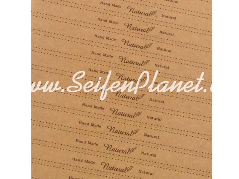 """Selbstklebende Papierstreifen """"Natural"""" » 0,99€ » SeifenPlanet-Onlineshop"""
