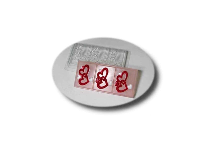 Seifenformschale Herzen 3-fach » 5,00€ » SeifenPlanet-Onlineshop
