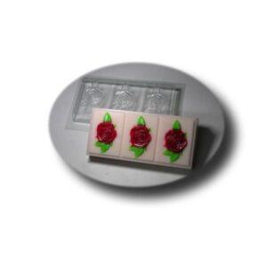 Seifenformschale Rosen 3-fach