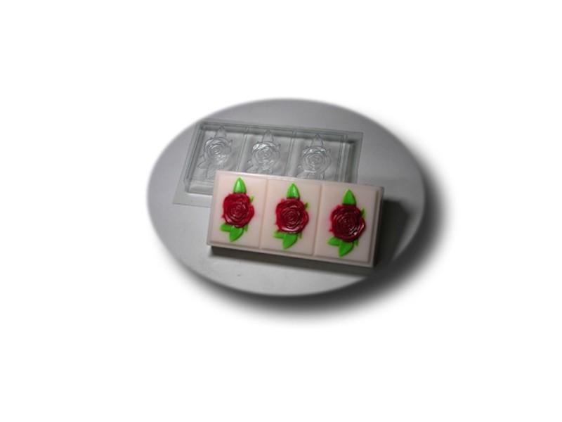 Seifenformschale Rosen 3-fach » 5,00€ » SeifenPlanet-Onlineshop