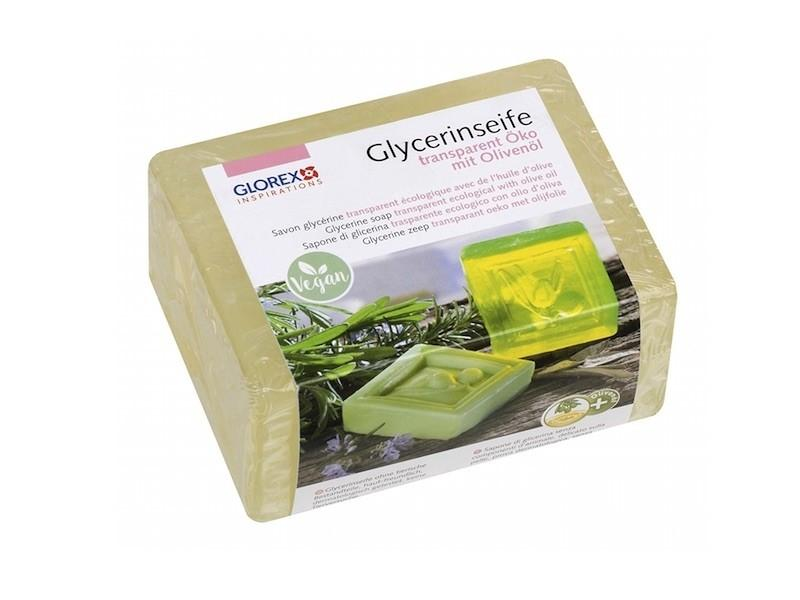 Glycerinseife Öko m. Olivenöl, transparent, 500 g » 9,74€ » SeifenPlanet-Onlineshop