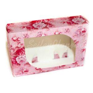 Seifenverpackung Rosa Blüten