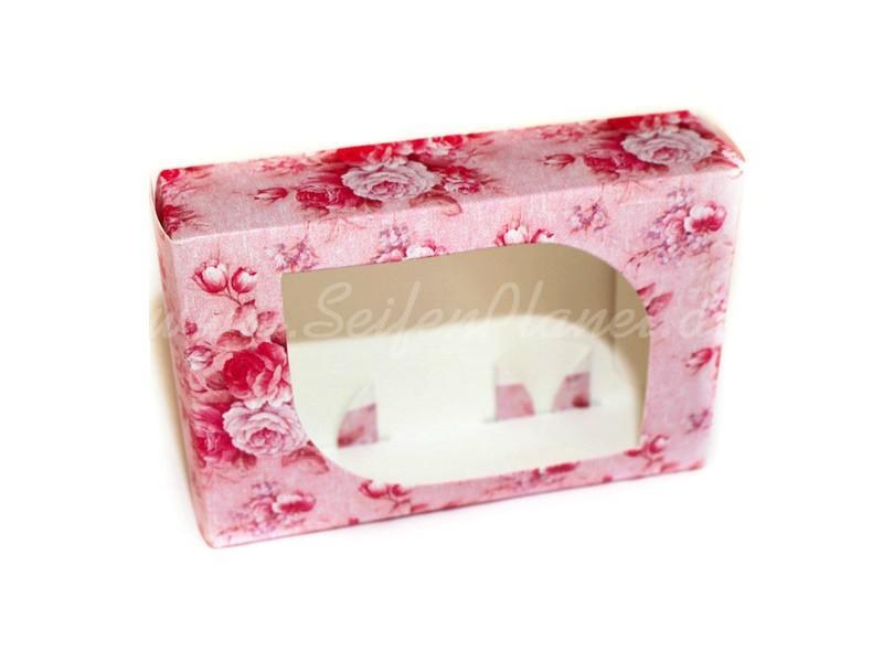 Seifenverpackung Rosa Blüten » 0,65€ » SeifenPlanet-Onlineshop