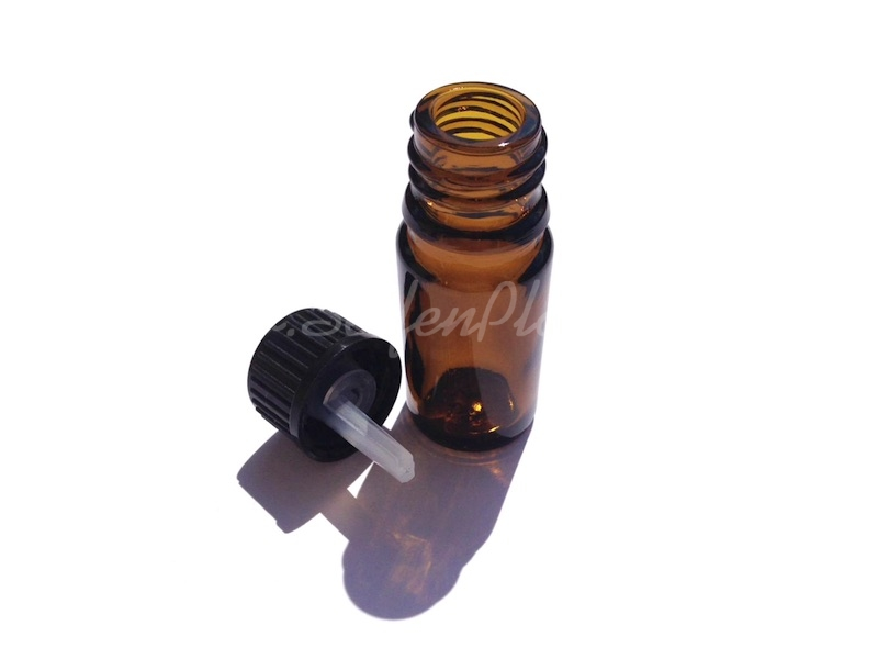 5 Braunglasflaschen mit Tropfeinsatz, 5 ml » 3,00€ » SeifenPlanet-Onlineshop